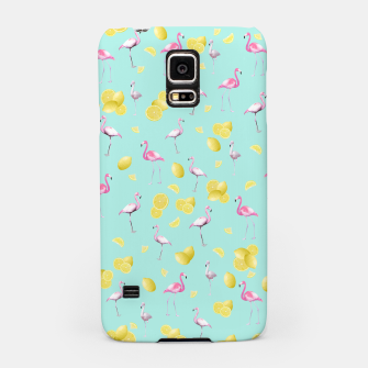 Flamingo Lemon Twist Summer Pattern #1 (Kids Collection) #decor #art  Handyhülle für Samsung obraz miniatury