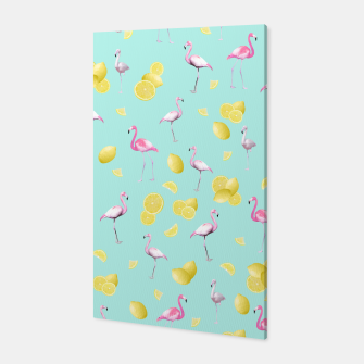Flamingo Lemon Twist Summer Pattern #1 (Kids Collection) #decor #art  Canvas obraz miniatury
