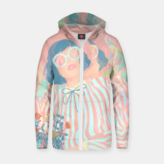 Thumbnail image of Complex Vision Zip up hoodie, Live Heroes