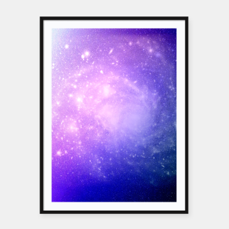 Thumbnail image of Pattern Galaxy Affiche et cadre, Live Heroes