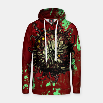 Super Horror Monster Beast Illustration Hoodie Bild der Miniatur