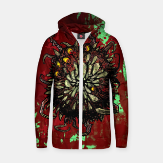 Super Horror Monster Beast Illustration Zip up hoodie Bild der Miniatur
