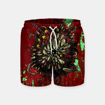 Super Horror Monster Beast Illustration Swim Shorts Bild der Miniatur