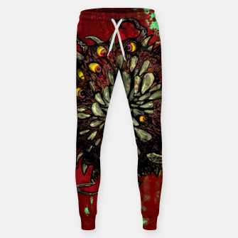 Super Horror Monster Beast Illustration Sweatpants Bild der Miniatur