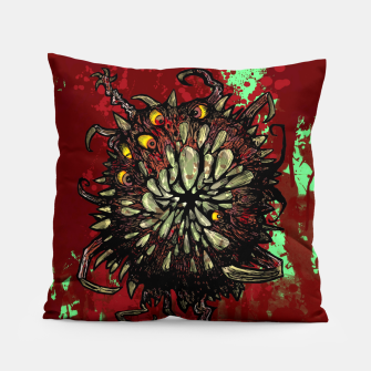 Super Horror Monster Beast Illustration Pillow Bild der Miniatur