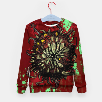 Super Horror Monster Beast Illustration Kid's sweater Bild der Miniatur