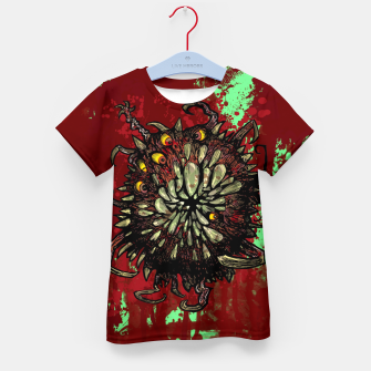 Super Horror Monster Beast Illustration Kid's t-shirt Bild der Miniatur