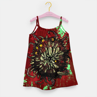 Miniatur Super Horror Monster Beast Illustration Girl's dress, Live Heroes