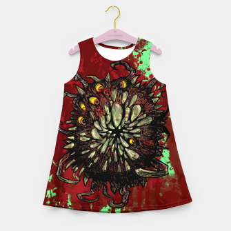 Thumbnail image of Super Horror Monster Beast Illustration Girl's summer dress, Live Heroes