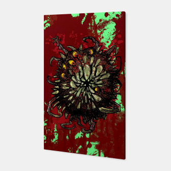 Miniatur Super Horror Monster Beast Illustration Canvas, Live Heroes