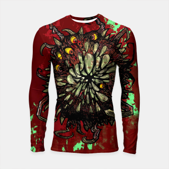 Miniatur Super Horror Monster Beast Illustration Longsleeve rashguard , Live Heroes