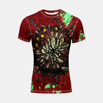 Super Horror Monster Beast Illustration Shortsleeve rashguard Bild der Miniatur