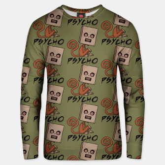 Thumbnail image of Psycho Sack Monkey with Text Unisex sweater, Live Heroes