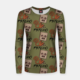 Thumbnail image of Psycho Sack Monkey with Text Women sweater, Live Heroes