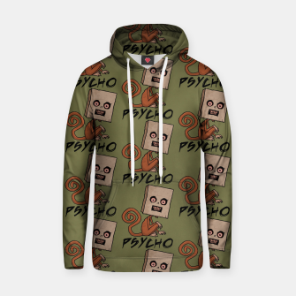 Thumbnail image of Psycho Sack Monkey with Text Hoodie, Live Heroes