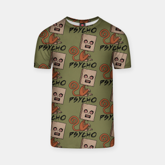 Thumbnail image of Psycho Sack Monkey with Text T-shirt, Live Heroes