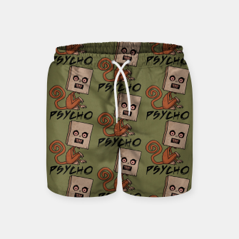 Imagen en miniatura de Psycho Sack Monkey with Text Swim Shorts, Live Heroes