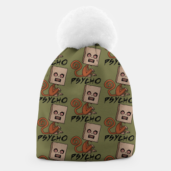Thumbnail image of Psycho Sack Monkey with Text Beanie, Live Heroes