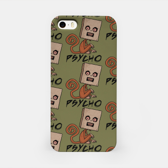 Thumbnail image of Psycho Sack Monkey with Text iPhone Case, Live Heroes