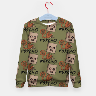 Miniaturka Psycho Sack Monkey with Text Kid's sweater, Live Heroes