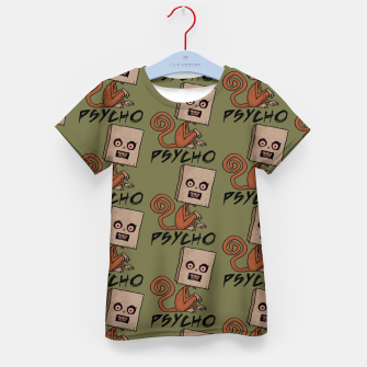 Thumbnail image of Psycho Sack Monkey with Text Kid's t-shirt, Live Heroes