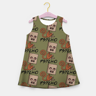 Thumbnail image of Psycho Sack Monkey with Text Girl's summer dress, Live Heroes