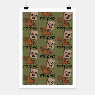 Thumbnail image of Psycho Sack Monkey with Text Poster, Live Heroes