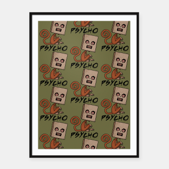 Miniaturka Psycho Sack Monkey with Text Framed poster, Live Heroes