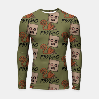 Thumbnail image of Psycho Sack Monkey with Text Longsleeve rashguard , Live Heroes