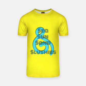 Thumbnail image of Sea Sun Sand & Slushies (Yellow) T-shirt, Live Heroes