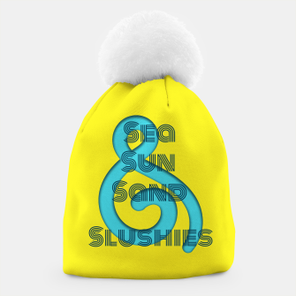 Thumbnail image of Sea Sun Sand & Slushies (Yellow) Beanie, Live Heroes