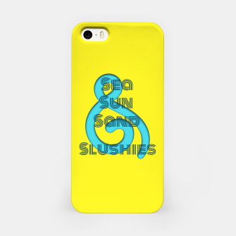 Thumbnail image of Sea Sun Sand & Slushies (Yellow) iPhone Case, Live Heroes