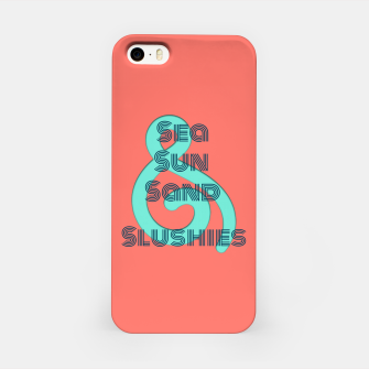 Thumbnail image of Sea Sun Sand & Slushies (Coral) iPhone Case, Live Heroes