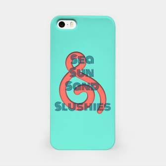 Sea Sun Sand & Slushies (Mint) iPhone Case obraz miniatury