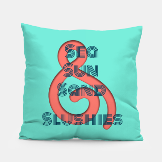 Sea Sun Sand & Slushies (Mint) Pillow obraz miniatury