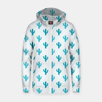 Thumbnail image of Cactuses Pattern Zip up hoodie, Live Heroes