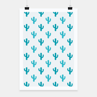 Miniatur Cactuses Pattern Poster, Live Heroes