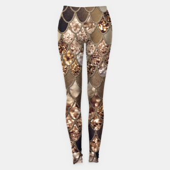 Miniaturka Mermaid Glitter Scales #6 #shiny #decor #art Leggings, Live Heroes