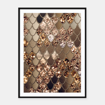 Miniaturka Mermaid Glitter Scales #6 #shiny #decor #art Plakat mit rahmen, Live Heroes