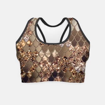 Miniaturka Mermaid Glitter Scales #6 #shiny #decor #art Crop Top, Live Heroes