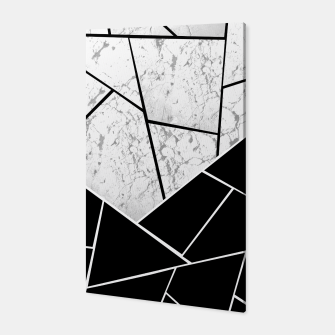 Yin Yang Marble Geometric Glam #1 #geo #decor #art  Canvas thumbnail image