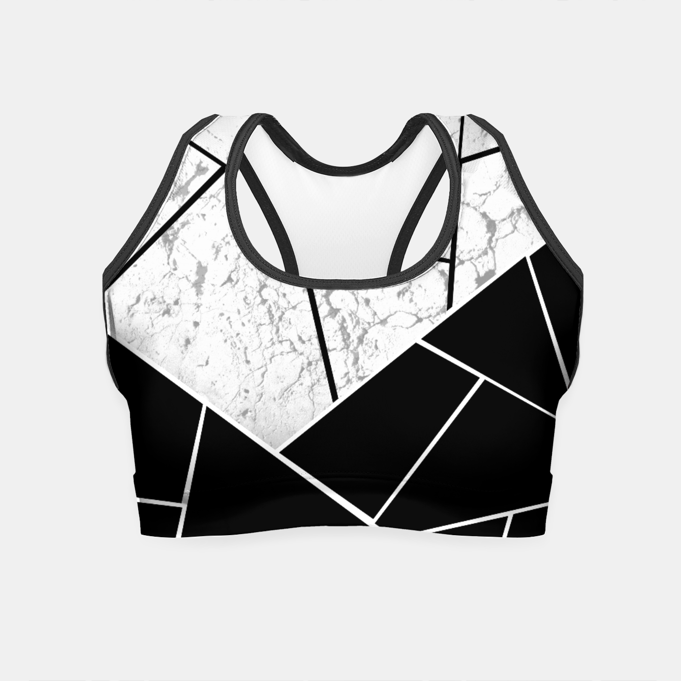 Image of Yin Yang Marble Geometric Glam #1 #geo #decor #art  Crop Top - Live Heroes