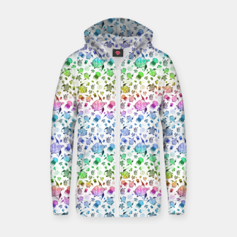 Thumbnail image of Ocean Life-Rainbow Zip up hoodie, Live Heroes
