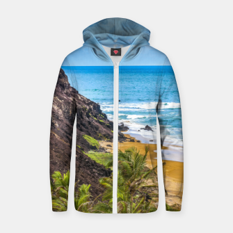 Thumbnail image of Praia Do Amor, Pipa - Brazil Zip up hoodie, Live Heroes