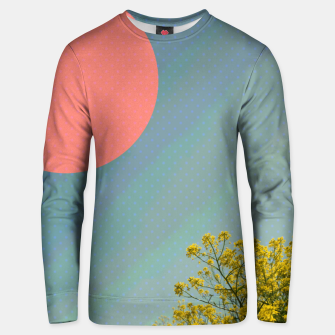 Miniatur Sky and flowers Unisex sweater, Live Heroes
