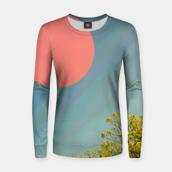 Miniatur Sky and flowers Women sweater, Live Heroes