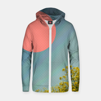Thumbnail image of Sky and flowers Zip up hoodie, Live Heroes