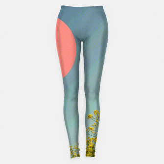 Thumbnail image of Sky and flowers Leggings, Live Heroes