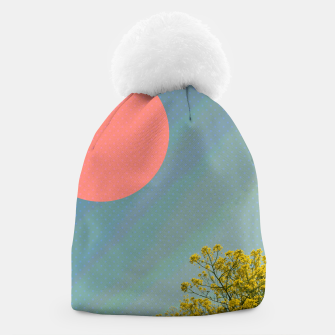 Miniatur Sky and flowers Beanie, Live Heroes