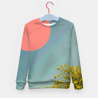 Miniatur Sky and flowers Kid's sweater, Live Heroes